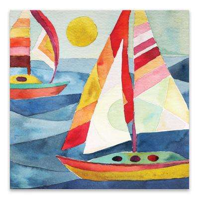 """Sunday Sail""  by Casey Krimmel Printed Canvas Wall Art"
