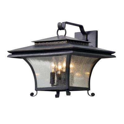 Grammercy 4-Light Forged Iron Outdoor Wall Lantern Sconce