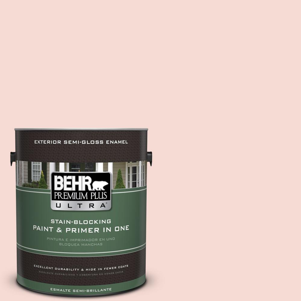 BEHR Premium Plus Ultra 1-gal. #200E-1 Possibly Pink Semi-Gloss Enamel Exterior Paint