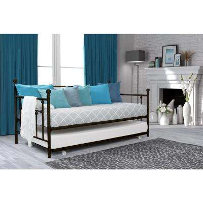 Mia Bronze Twin Daybed and Trundle Set