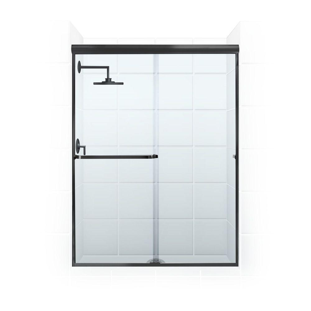 Paragon 3/16B Series 46 in. x 65 in. Semi-Framed Sliding Shower