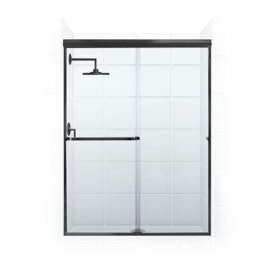 Paragon 3/16B Series 46 in. x 69 in. Semi-Framed Sliding Shower Door with Towel Bar in Oil Rubbed Bronze and Clear Glass