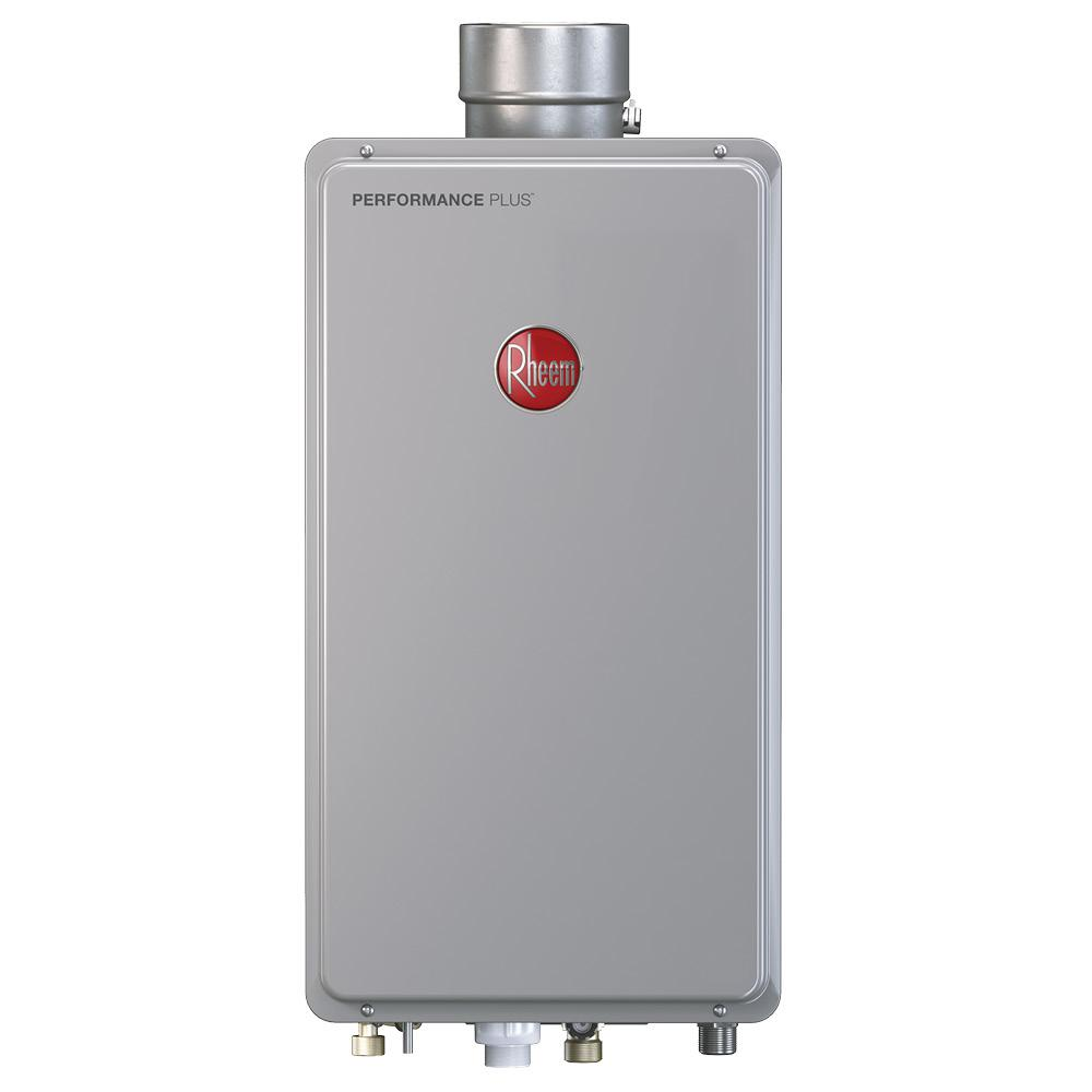 Rheem Performance Plus 8 4 Gpm Natural Gas Mid Efficiency Indoor Tankless Water Heater