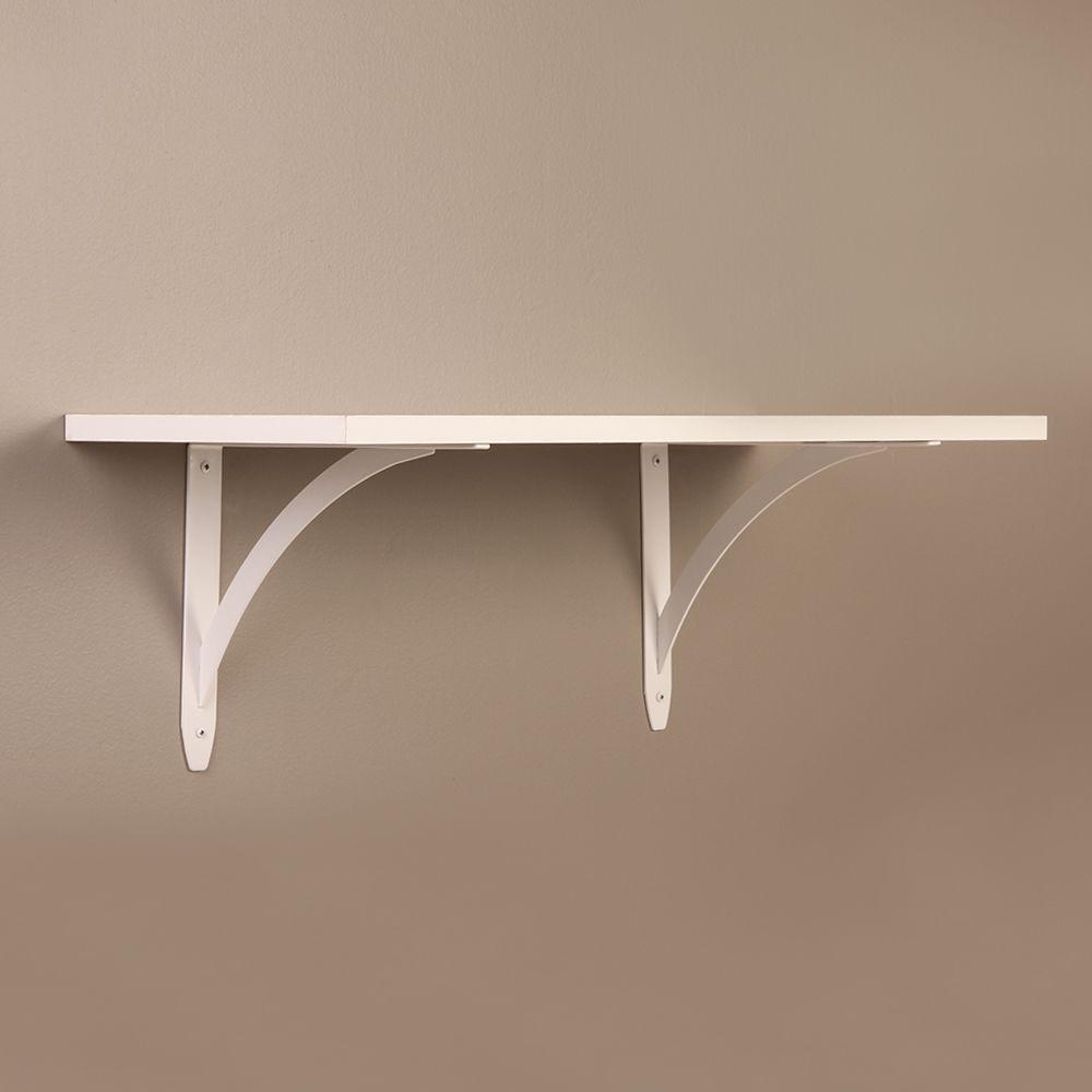 Everbilt 9.75 in. x 7.75 in. White Elegant Shelf Bracket