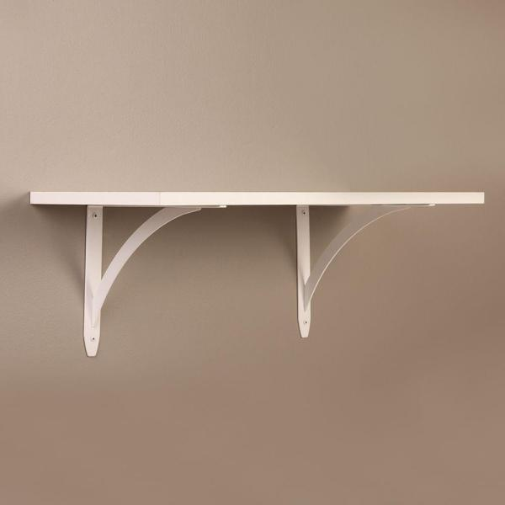 9.75 in. x 7.75 in. White Elegant Shelf Bracket