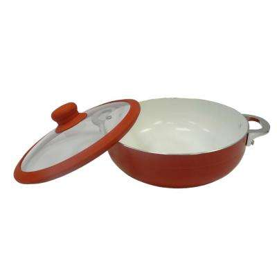 Ceramic Nonstick 6.9 Qt. Caldero with Glass Lid and Silicone Rim