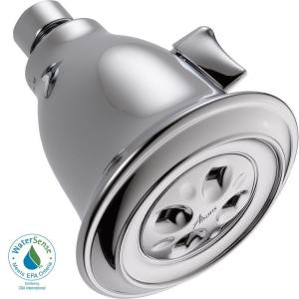 Delta 1-Spray 3.91 in. Fixed Showerhead w/H2Okinetic Deals