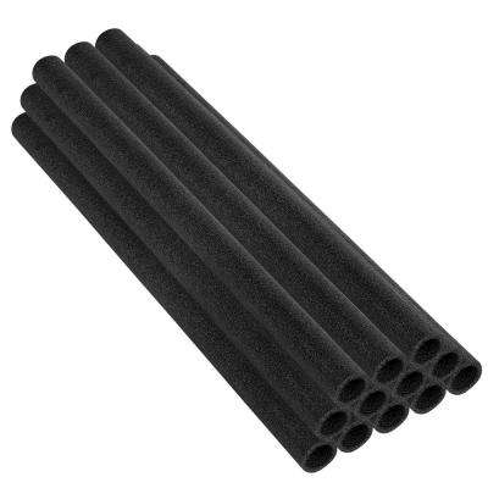 44 in. Black Trampoline Pole Foam Sleeves Fits for 1.5 in. Dia Pole (Set of 12)