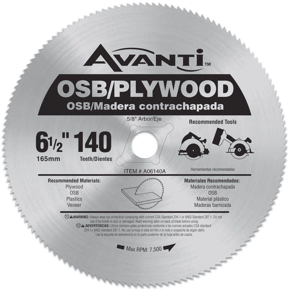 Avanti 6 12 in x 140 teeth osbplywood saw blade a06140a the avanti 6 12 in x 140 teeth osbplywood saw greentooth Gallery