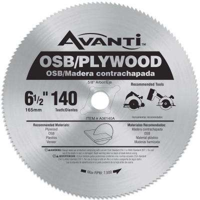 6-1/2 in. x 140-Teeth OSB/Plywood Saw Blade