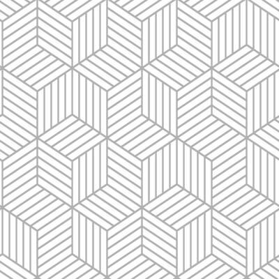 Stripped Hexagon Vinyl Peelable Wallpaper (Covers 28.18 sq. ft.)