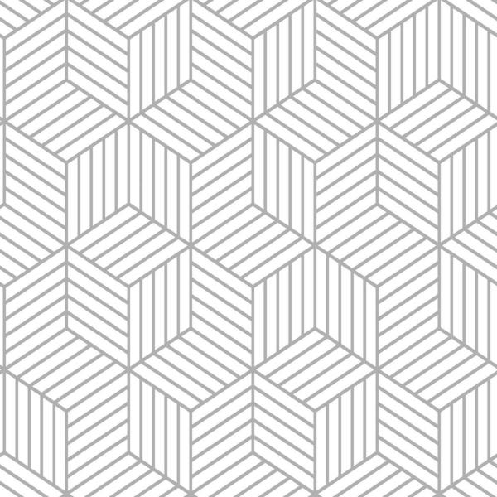 Stripped Hexagon Vinyl Peelable Wallpaper (Covers 28.18 sq. ft.)