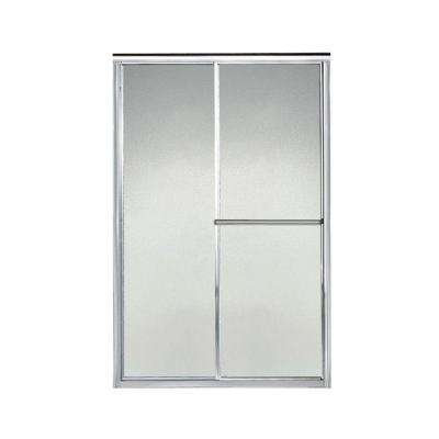 Deluxe 44 in. x 65-1/2 in. Framed Sliding Shower Door in Silver with Handle