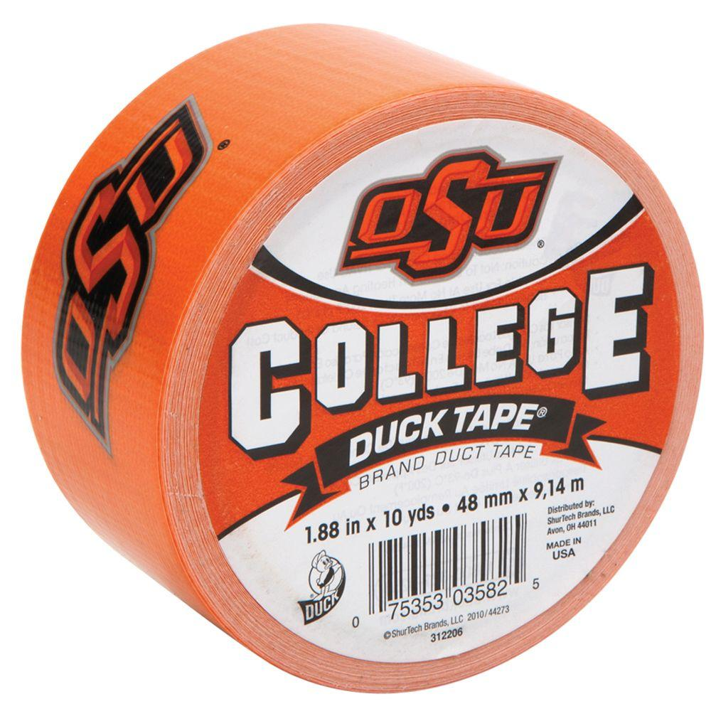 Duck College 1-7/8 in. x 30 ft. Oklahoma State Duct Tape (6-Pack)