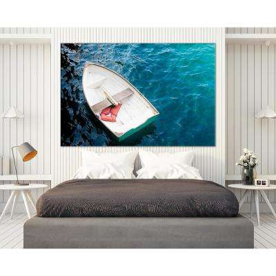 "48 in. x 72 in. ""Rowboat I"" by Elizabeth Urquhart Printed Framed Canvas Wall Art"