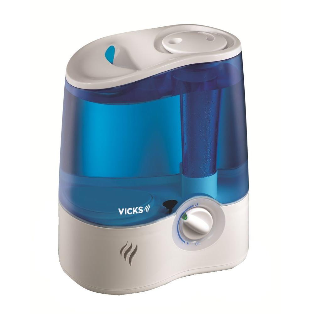 Vicks 68181911 ultrasonic humidifier, cool mist for relief of cold.
