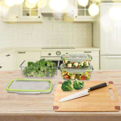 6-Piece Glass Rectangle Storage Container Set