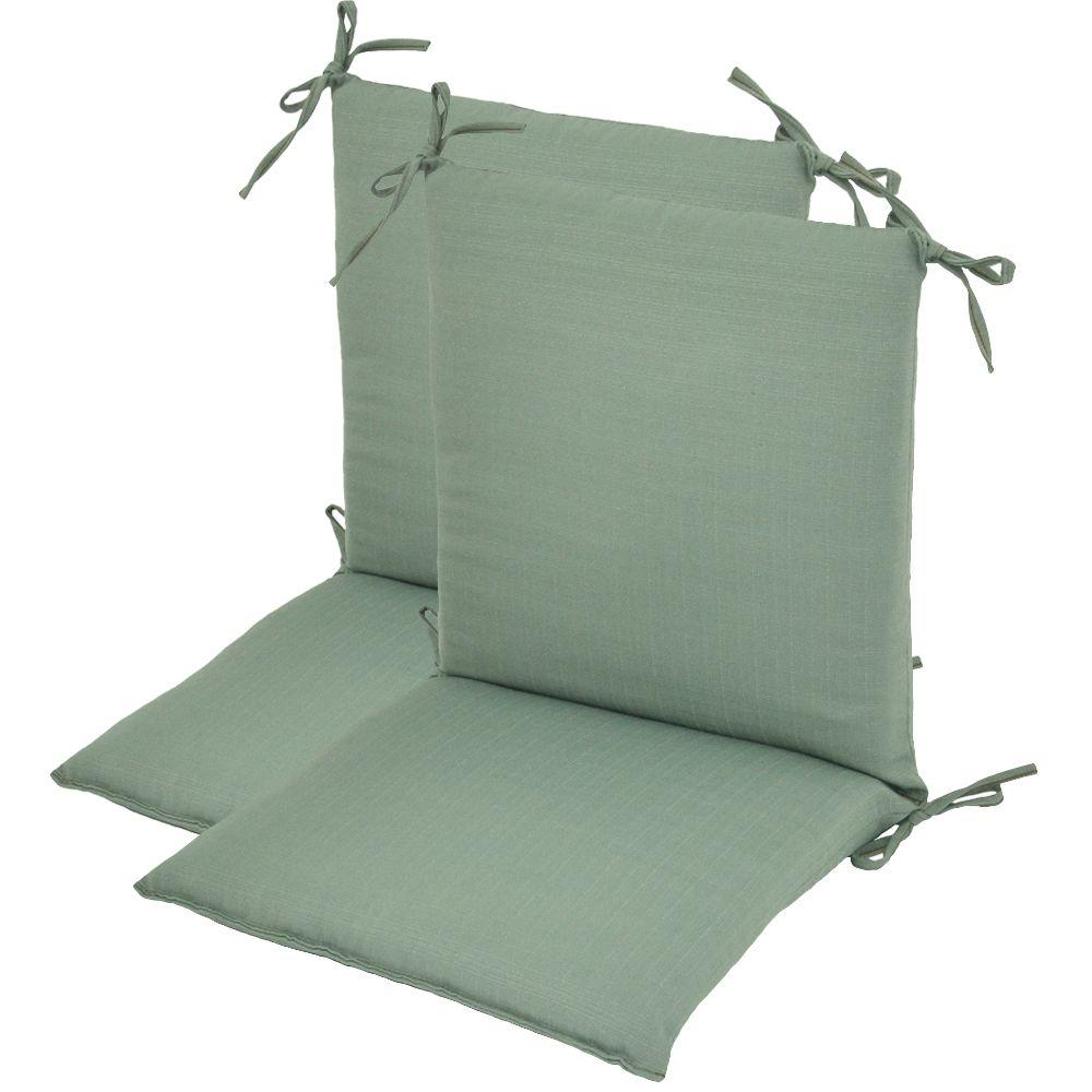 Plantation Patterns Cypress Textured Mid Back Outdoor Chair Cushion (2-Pack)-DISCONTINUED