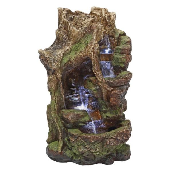 Willow Bend Stone Bonded Resin Illuminated Garden Fountain