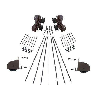 Oil Rubbed Bronze Contemporary Swivel Rolling Ladder Hardware Kit