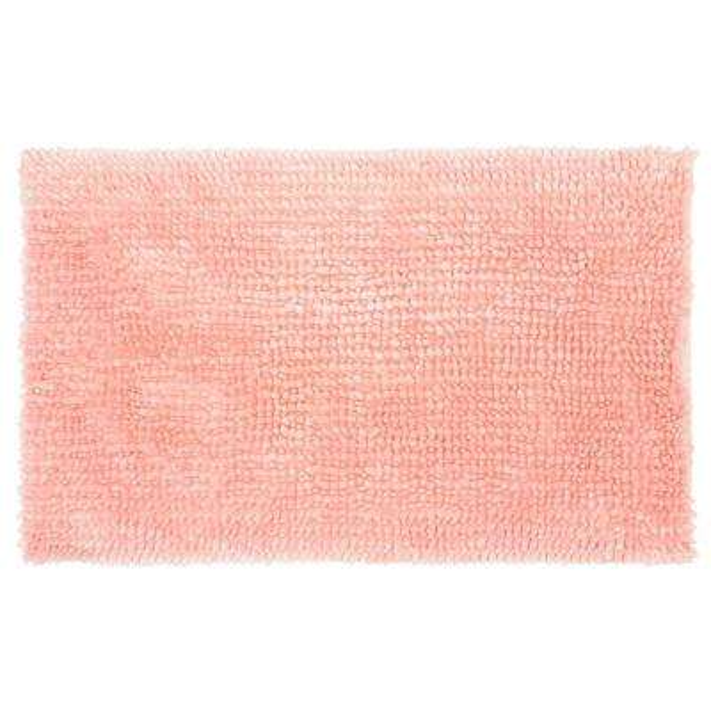 Butter Chenille 20 in. x 34 in. Bath Mat, Pink Mist