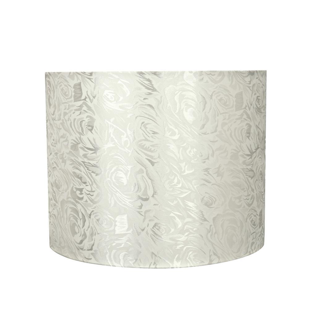 Off White Hardback Drum Cylinder Lamp Shade