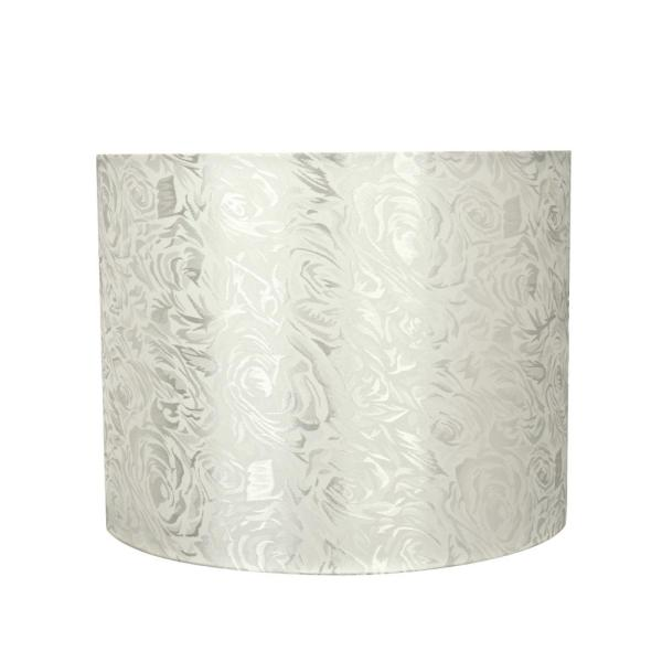 14 in. x 11 in. Off White Hardback Drum/Cylinder Lamp Shade