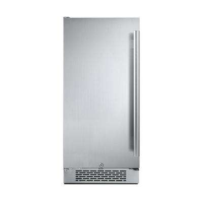 3.3 cu. ft. 15 in. Built-In Freezerless Refrigerator in Stainless Steel, Left Hinge