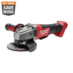 M18 FUEL 18-Volt Lithium-Ion Brushless Cordless 4-1/2 in. / 5 in. Grinder with Paddle Switch (Tool-Only)