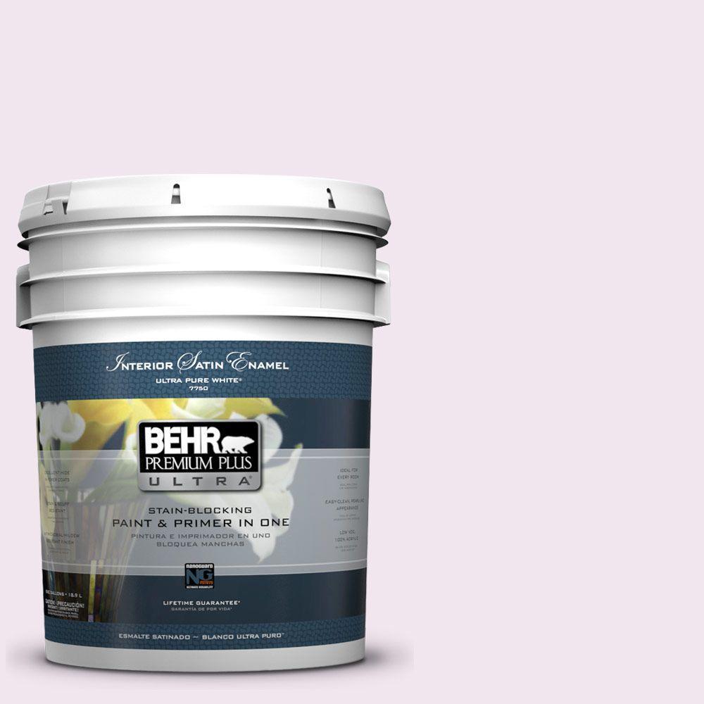 BEHR Premium Plus Ultra 5-gal. #650A-1 Rose Fantasy Satin Enamel Interior Paint