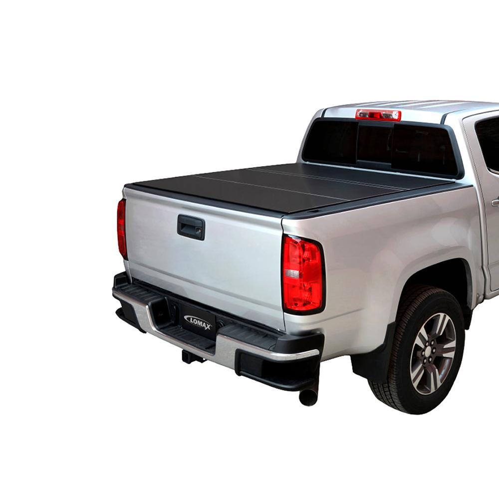 LOMAX Tri-Fold Cover 07-19 Toyota Tundra - 6ft 6in Bed (w/ Deck Rail) -  Matte Black