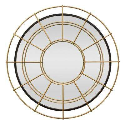 39 in. Gold Metal Wall Mirror
