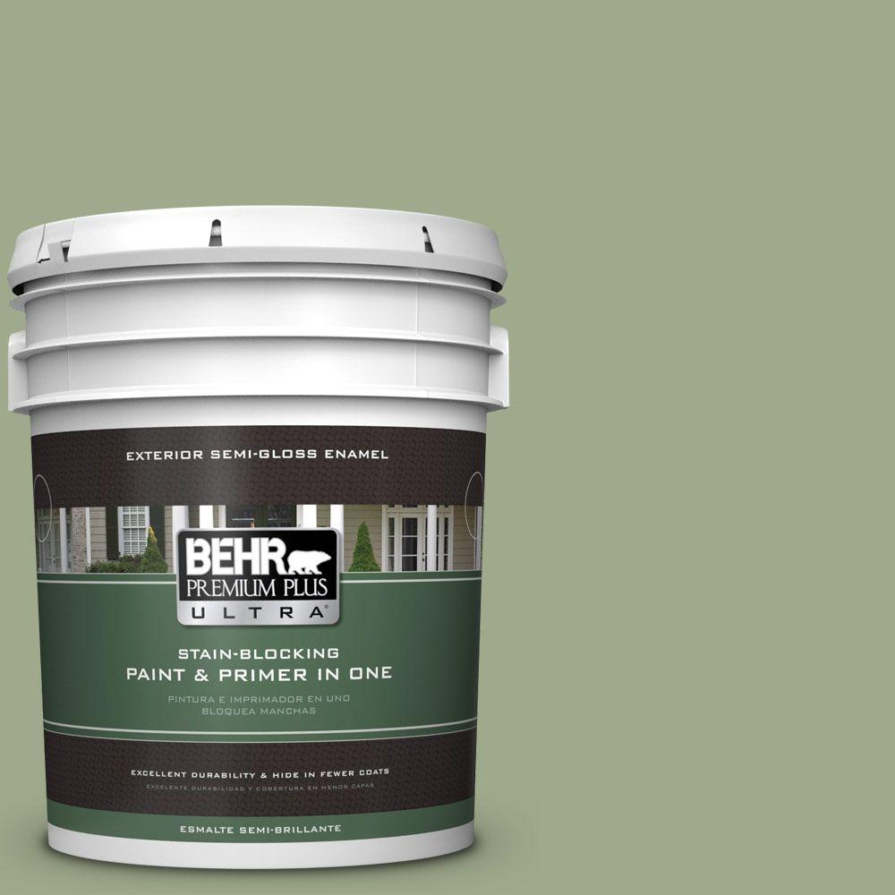 BEHR Premium Plus Ultra 5-gal. #PMD-36 Mountain Sage Semi-Gloss Enamel Exterior Paint