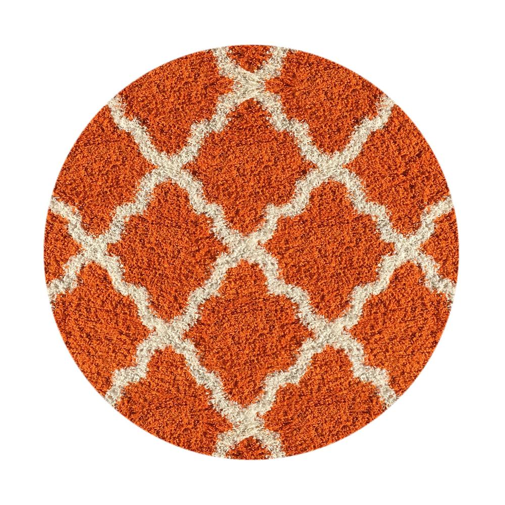 Amazing MAXY HOME Bella Collection Orange 5 Ft. X 5 Ft. Round Area Rug