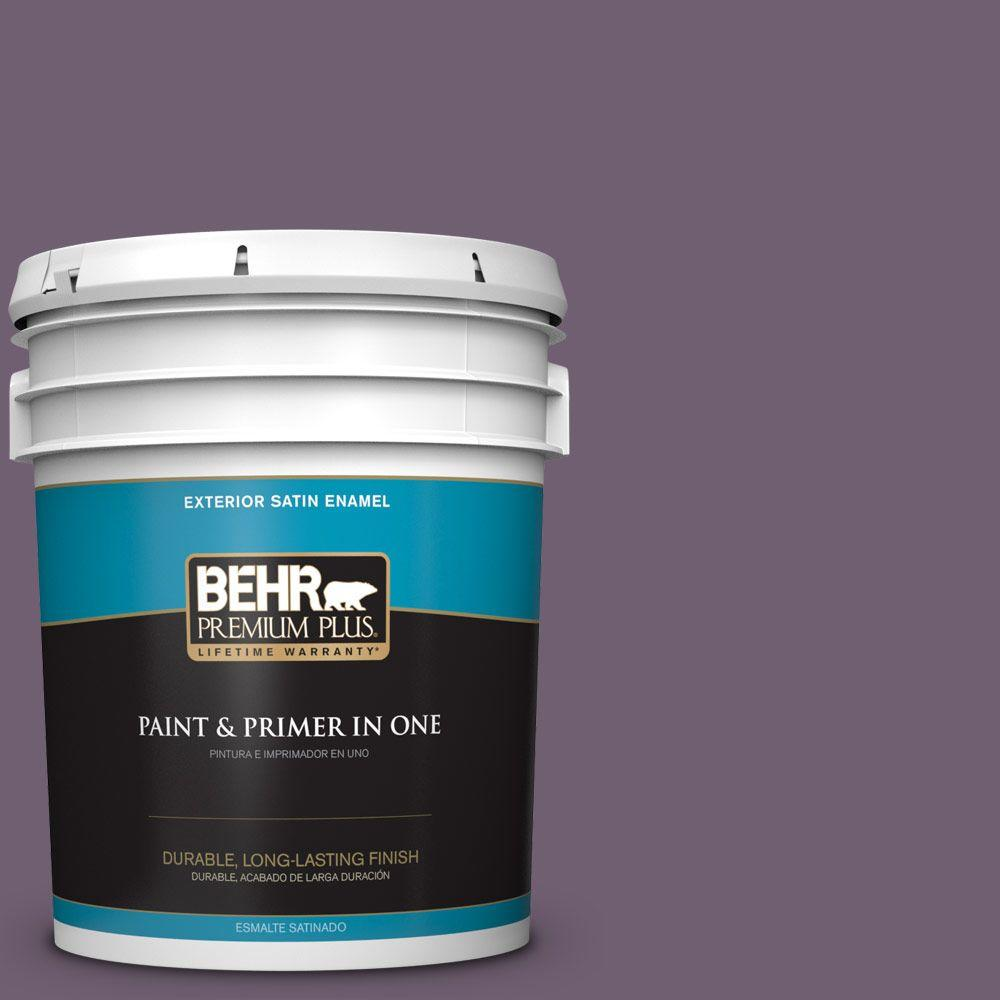 5-gal. #S100-6 Blackberry Jam Satin Enamel Exterior Paint