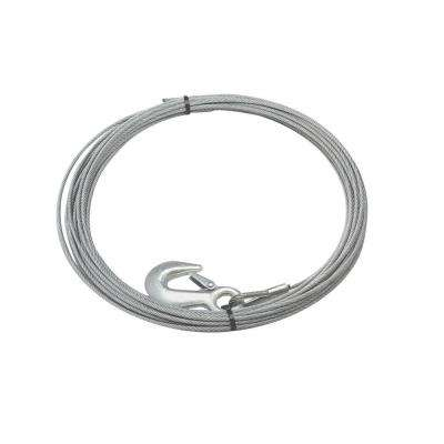3/16 in. x 50 ft. Replacement Galvanized Steel Wire Rope with Hook for the GP3000