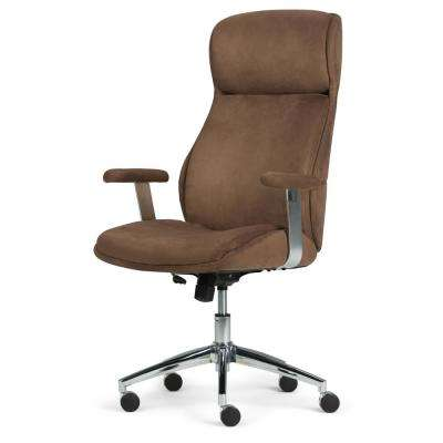 Melbourne Chocolate Brown Swivel Office Chair