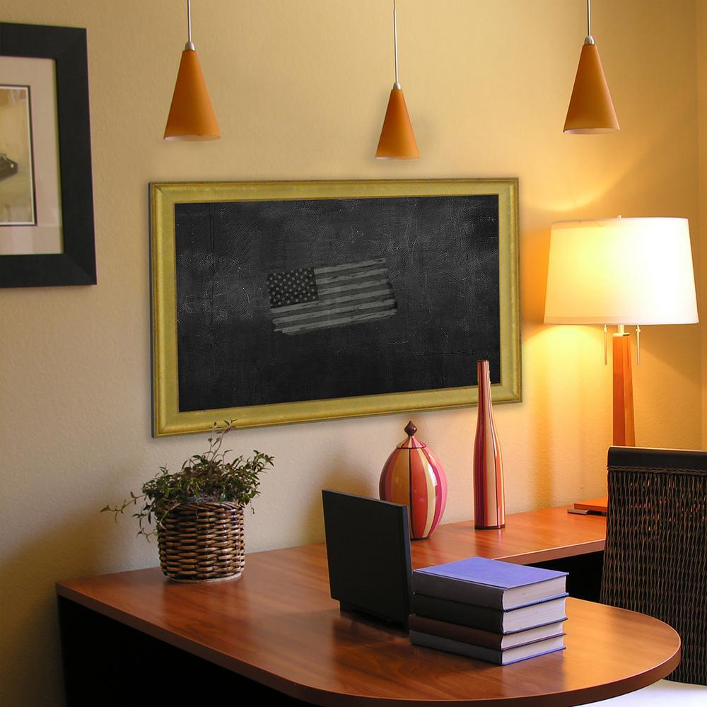 40 inch x 16 inch Vintage Gold Blackboard/Chalkboard by