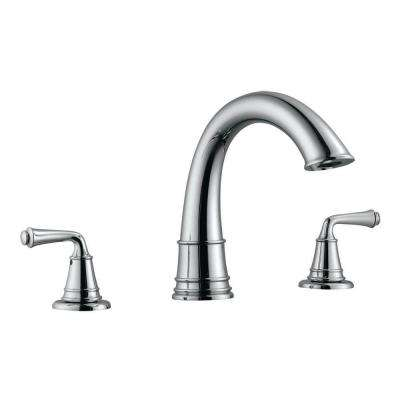 Eden 2-Handle Surface-Mount Roman Tub Faucet in Polished Chrome