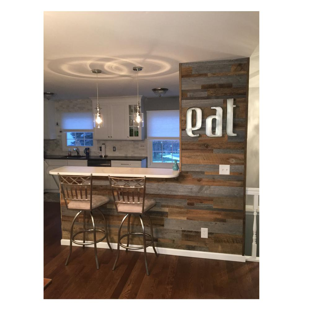 - Reclaimed Wood Brown & Gray 3/8 In. Thick X Varying Width X