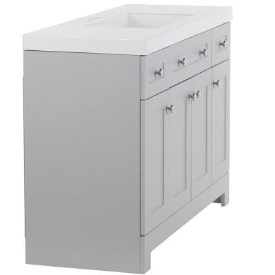 Everdean 48.5 in. W x 18.75 in. D Vanity in Pearl Gray with Cultured Marble Vanity Top in White with White Sink