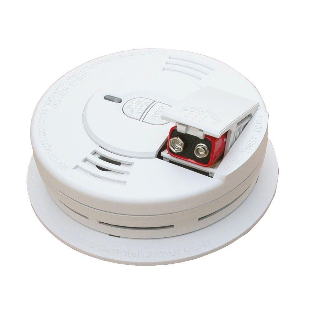 Kidde Code One Battery Operated Smoke Detector with Front Load Battery Door