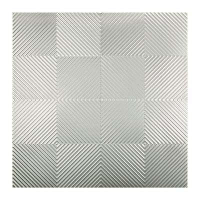 Quattro - 2 ft. x 2 ft. Lay-in Ceiling Tile in Brushed Aluminum