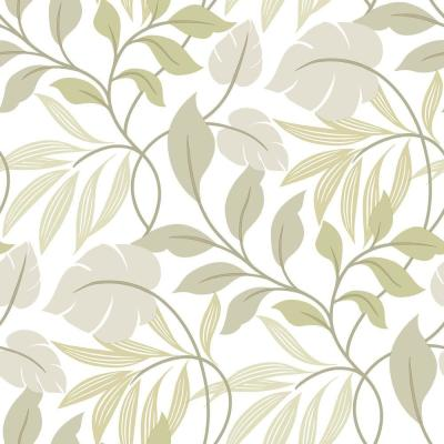 Neutral Meadow Peel and Stick Wallpaper Sample