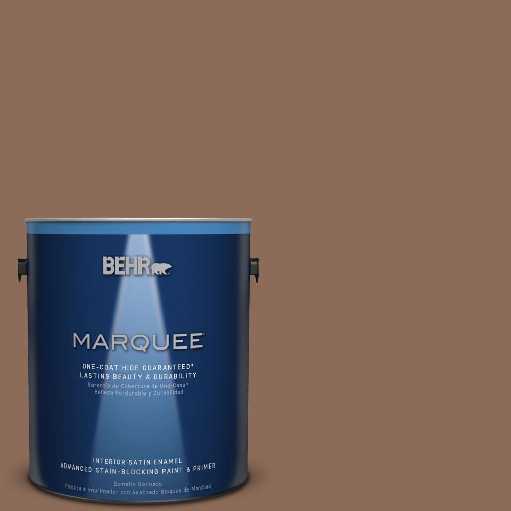 BEHR MARQUEE 1 gal. #MQ2-43 Antiquities One-Coat Hide Satin Enamel Interior Paint