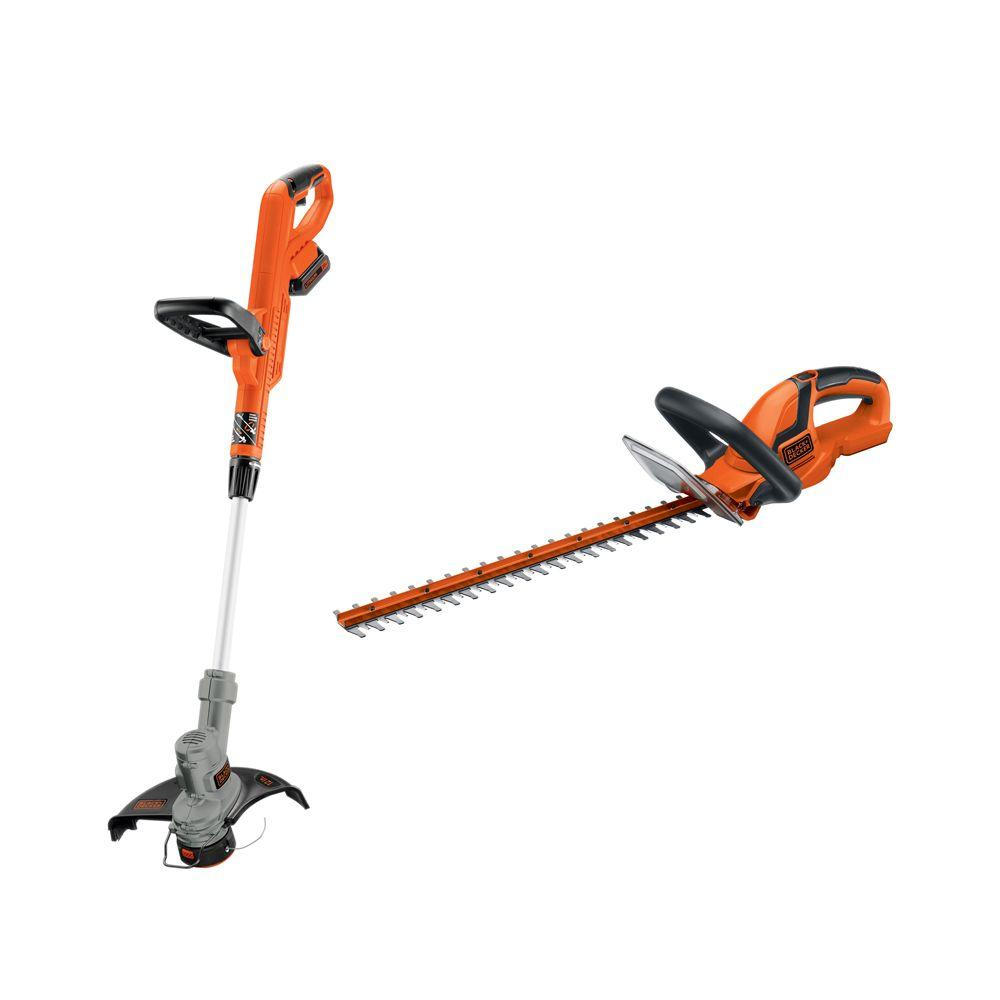 20-Volt MAX Lithium-Ion Cordless String and Hedge Trimmer Combo Kit (2-Tool)