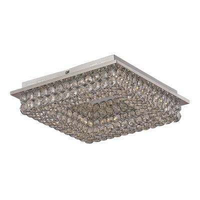 Bel Air 20-Watt Polished Chrome Integrated LED Flush Mount