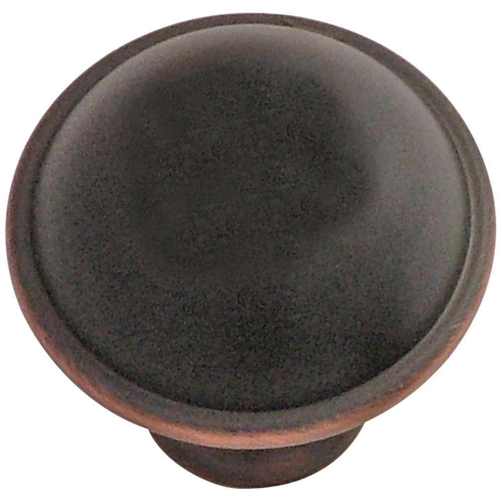 Hickory Hardware Savoy 1-1/4 in. Oil Rubbed Bronze Highlighted Cabinet Knob