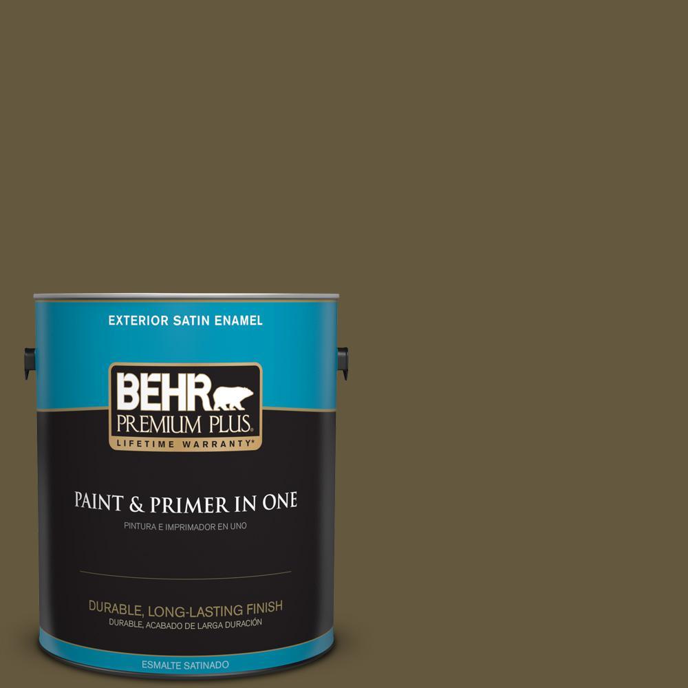 1 gal. #PPU7-01 Moss Stone Satin Enamel Exterior Paint