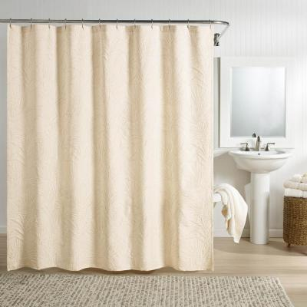 Ella Shower Curtain Ivory